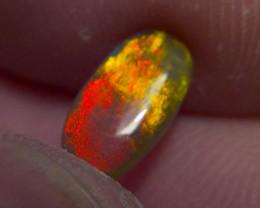 1.01cts Top Gem Lighting Ridge Black opal Red on Black