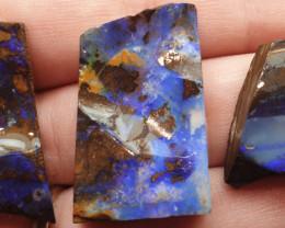 96.15 Carat Total Parcel of 3 x Natural Boulder Opal Rubs