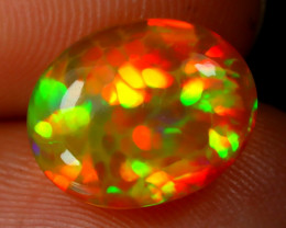 2.19Ct Honeycomb Pattern Bright Fire Flash Color Welo Opal E2103