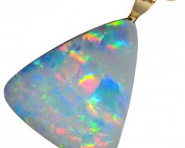 Australian Genuine Opal Pendant 14k Gold Doublet 7.3ct RRP:$310!
