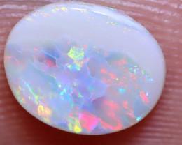 0.93 carats  White Solid Opal Lightning Ridge ANO-1419