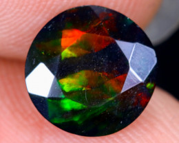 1.18cts Natural Ethiopian Welo Faceted Smoked Opal / HM1973