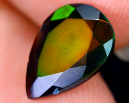 1.84cts Natural Ethiopian Welo Faceted Smoked Opal / HM1974