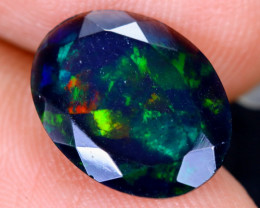 1.88cts Natural Ethiopian Welo Faceted Smoked Opal / HM1975
