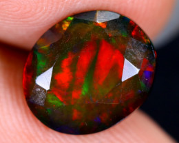 2.52cts Natural Ethiopian Welo Faceted Smoked Opal / HM1986