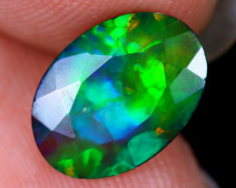 1.62cts Natural Ethiopian Welo Faceted Smoked Opal / HM1993