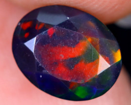 1.79cts Natural Ethiopian Welo Faceted Smoked Opal / HM1995