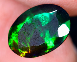 2.02cts Natural Ethiopian Welo Faceted Smoked Opal / HM2007