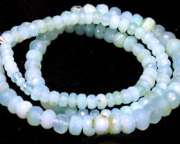 70 CTS    PERUVIAN  BLUE OPAL BEADS   TBO-2882
