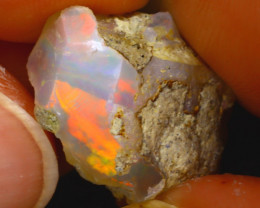 10.13Ct Multi Color Play Ethiopian Welo Opal Rough J2512/R2
