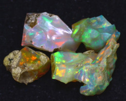 25.70Ct Multi Color Play Ethiopian Welo Opal Rough J2516/R2