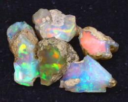 28.80Ct Multi Color Play Ethiopian Welo Opal Rough J2517/R2