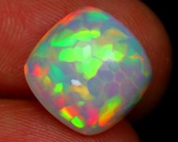 7.49Ct Hexagonal Honeycomb Bright Metallic Flash Color Welo Opal RT30