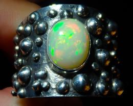 13sz Ethiopian Welo Opal .925 Sterling Silver Ring