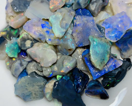 Black Opals- 110 CTs Rough Loaded With Bright Colours#333