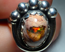 7sz Mexican Opal .925 Sterling Silver Ring