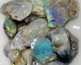 Nobby- Colourful Beautiful Rough Opals; 60 CTs#343