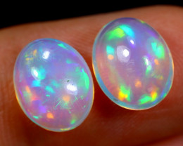 3.05cts Natural Ethiopian Welo Opal Earing Pairs / BF5765