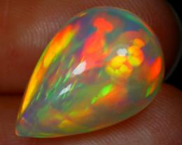 4.94Ct Chaff Pattern Honeycomb Neon Rolling Flash Welo Opal RT35