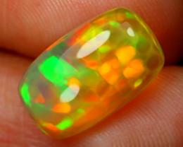 2.65Ct Honeycomb Pattern Neon Flash Color Welo Opal E2306