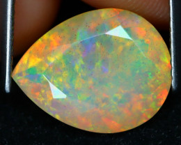 2.78Ct Floral Confetti Pattern Flash Color Welo Opal E2403
