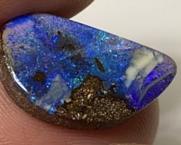 Midnight Blue Pinfire Boulder Opal