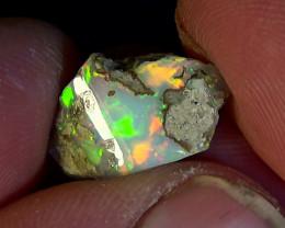4.60 cts Ethiopian Welo CHAFF polished opal N7 4,5/5
