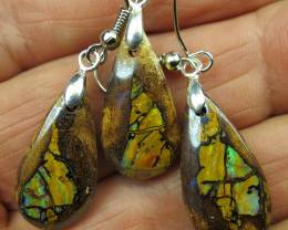 45cts, *WOOD OPAL~NECKLACE EARRING SET*