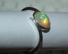 Opal Sz 6 Women's Sterling Silver Ring