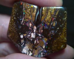 114 cts Opalized wood fossil, Gem grade koroit Boulder opal pair