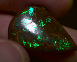 27.60cts Gem Grade Boulder opal with Brilliant electric fire