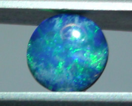 0.60 ct Doublet Opal With Blue Green Color