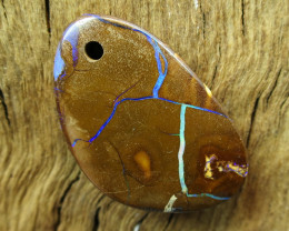 37cts, BOULDER OPAL~DRILLED STONE.
