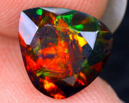 1.66cts Natural Ethiopian Welo Faceted Smoked Opal / HM2064