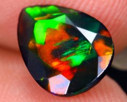1.14cts Natural Ethiopian Welo Faceted Smoked Opal / HM2065