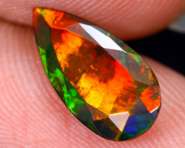 0.95cts Natural Ethiopian Welo Faceted Smoked Opal / HM2066
