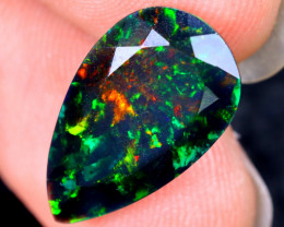 3.26cts Natural Ethiopian Welo Faceted Smoked Opal / HM2072