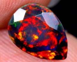 1.45cts Natural Ethiopian Welo Faceted Smoked Opal / HM2073