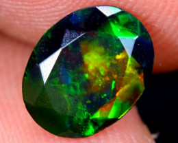 1.04cts Natural Ethiopian Welo Faceted Smoked Opal / HM2077