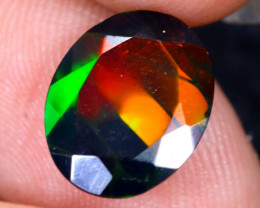 2.06cts Natural Ethiopian Welo Faceted Smoked Opal / HM2084