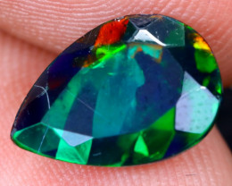 1.58cts Natural Ethiopian Welo Faceted Smoked Opal / HM2087