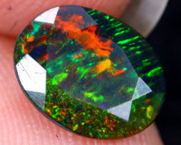 1.00cts Natural Ethiopian Welo Faceted Smoked Opal / HM2090