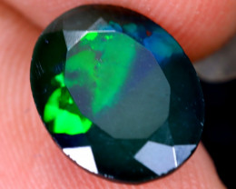 2.23cts Natural Ethiopian Welo Faceted Smoked Opal / HM2091
