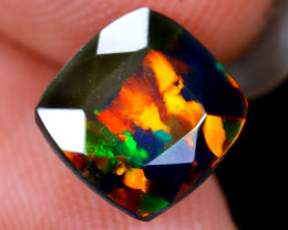 1.09cts Natural Ethiopian Welo Faceted Smoked Opal / HM2094