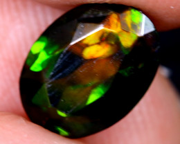 1.28cts Natural Ethiopian Welo Faceted Smoked Opal / HM2099
