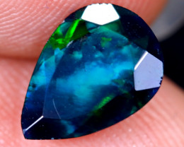 1.20cts Natural Ethiopian Welo Faceted Smoked Opal / HM2100