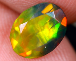 1.16cts Natural Ethiopian Welo Faceted Smoked Opal / HM2102