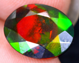 2.59cts Natural Ethiopian Welo Faceted Smoked Opal / HM2104