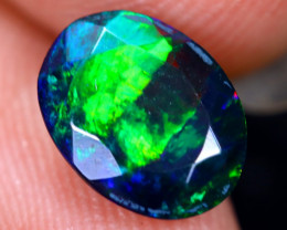 0.89cts Natural Ethiopian Welo Faceted Smoked Opal / HM2105
