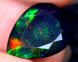 2.45cts Natural Ethiopian Welo Faceted Smoked Opal / HM2112